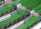 Aluminum Alloy Sliding Roller Track , Flat Type The Shelf Storage Rack