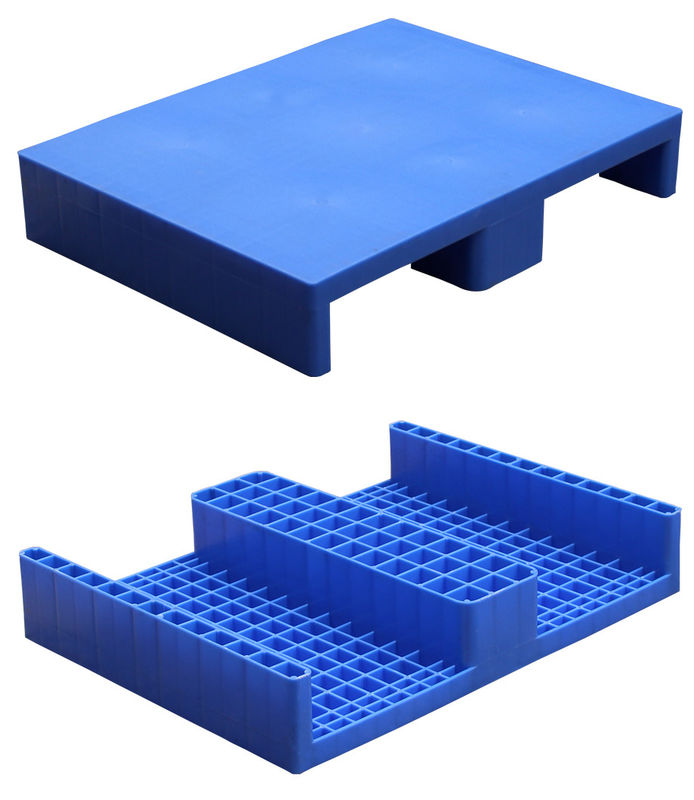 4 Way Flat Stackable Plastic Pallets Single Faced High Density Non - Toxic
